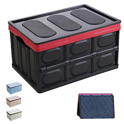 Attirant Euyzou Storage Bins Plastic Storage Containers U2013 Collapsible Storage Boxes Plastic  Bins Plastic Containers With Lids