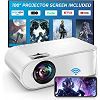 YABER WiFi Projector Mini Portable Projector 6000 Lumens 1080P Supported Full HD Projector[Projector Screen Include] 236…