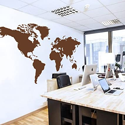 World map wall decal world country atlas the whole world sticker world map wall decal world country atlas the whole world sticker vinyl wall map decor office gumiabroncs Image collections
