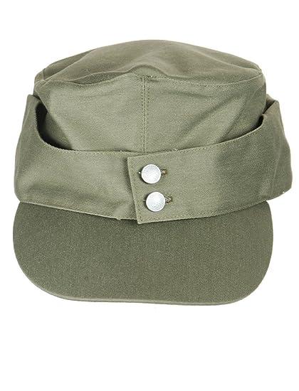 426f4beaf17 Amazon.com   WWII German Army Elite EM M43 Summer Hat Cap Green ...