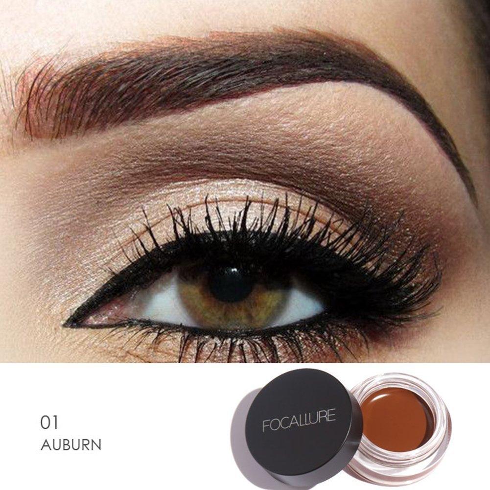 Eye Brow Gel Makeup Cream, FOCALLURE Eyebrow Enhancers Quick Dry Waterproof and Long Lasting Gel Eyeliner (2#) Woopower