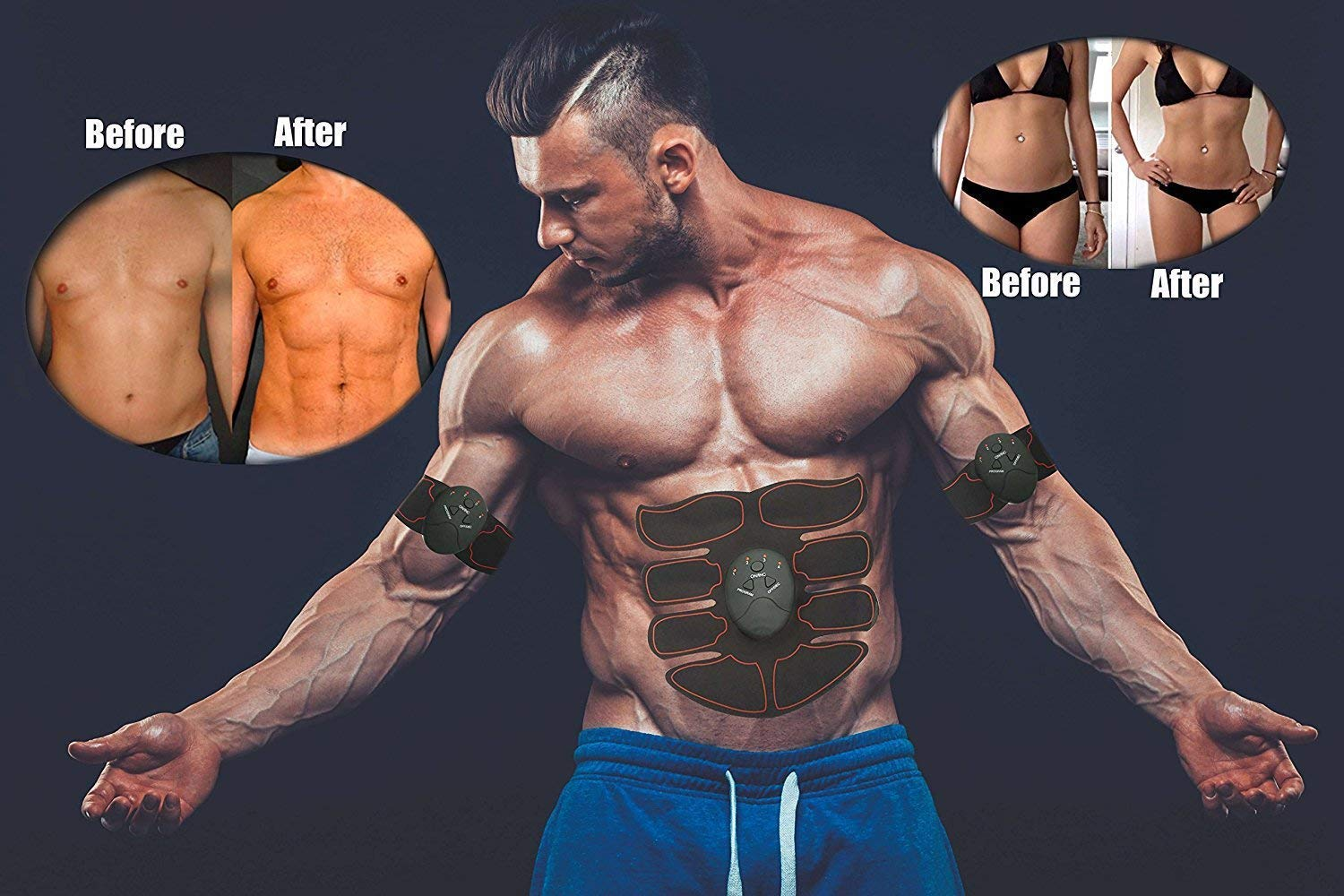 Muscle Trainer for Abdomen Fitness Mobile Fat Burning Slim Equipment Muscle Belt
