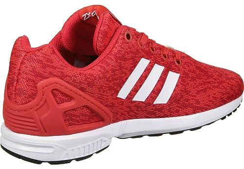 adidas ZX Flux J, Zapatillas de Deporte Unisex Niños, Rojo (Rojbas/Ftwbla/Negbas), 38 EU: Amazon.es: Zapatos y complementos
