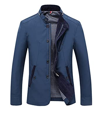 Wanyesta Spring Men Casual Thin Jacket Comfortable Mens Slim Fit Blazer Jacket Hombres Chaqueta Jaqueta Blue