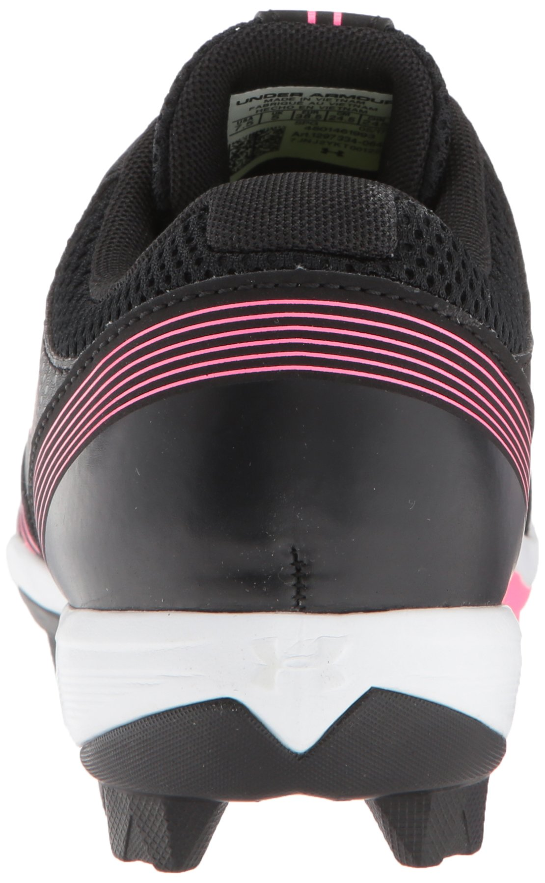 Under Armour Women's Glyde RM Softball Shoe, Black (064)/Cerise, 7 by Under Armour (Image #2)