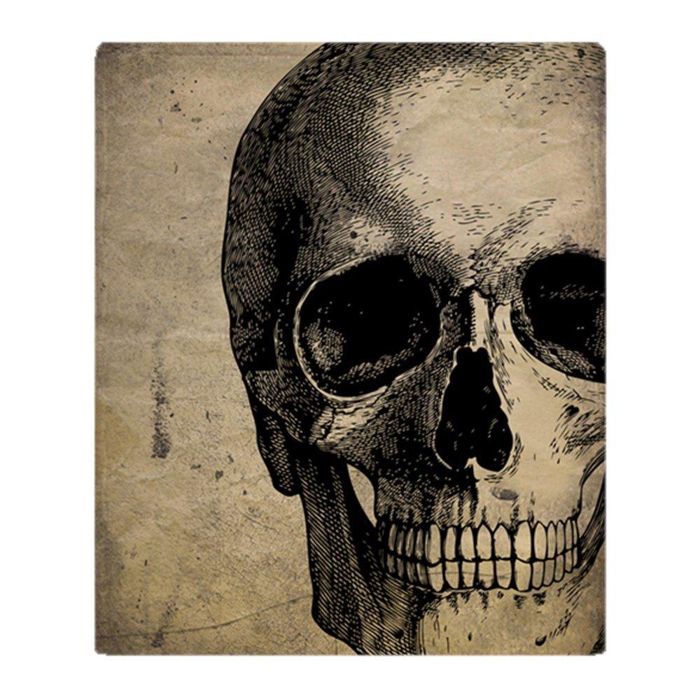 CafePress - Vintage Skull - Soft Fleece Throw Blanket, 50x60 Stadium Blanket