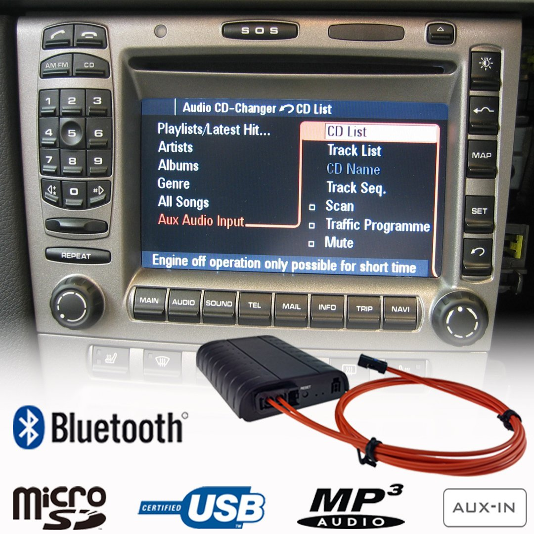 Porsche Pcm1 Wiring Bluetooth A2dp Handsfree Usb Sd Aux Mp3 Wma Music Player Adapter Interface 911 Boxster Cayman Cayenne Pcm 20 21 Car Kit