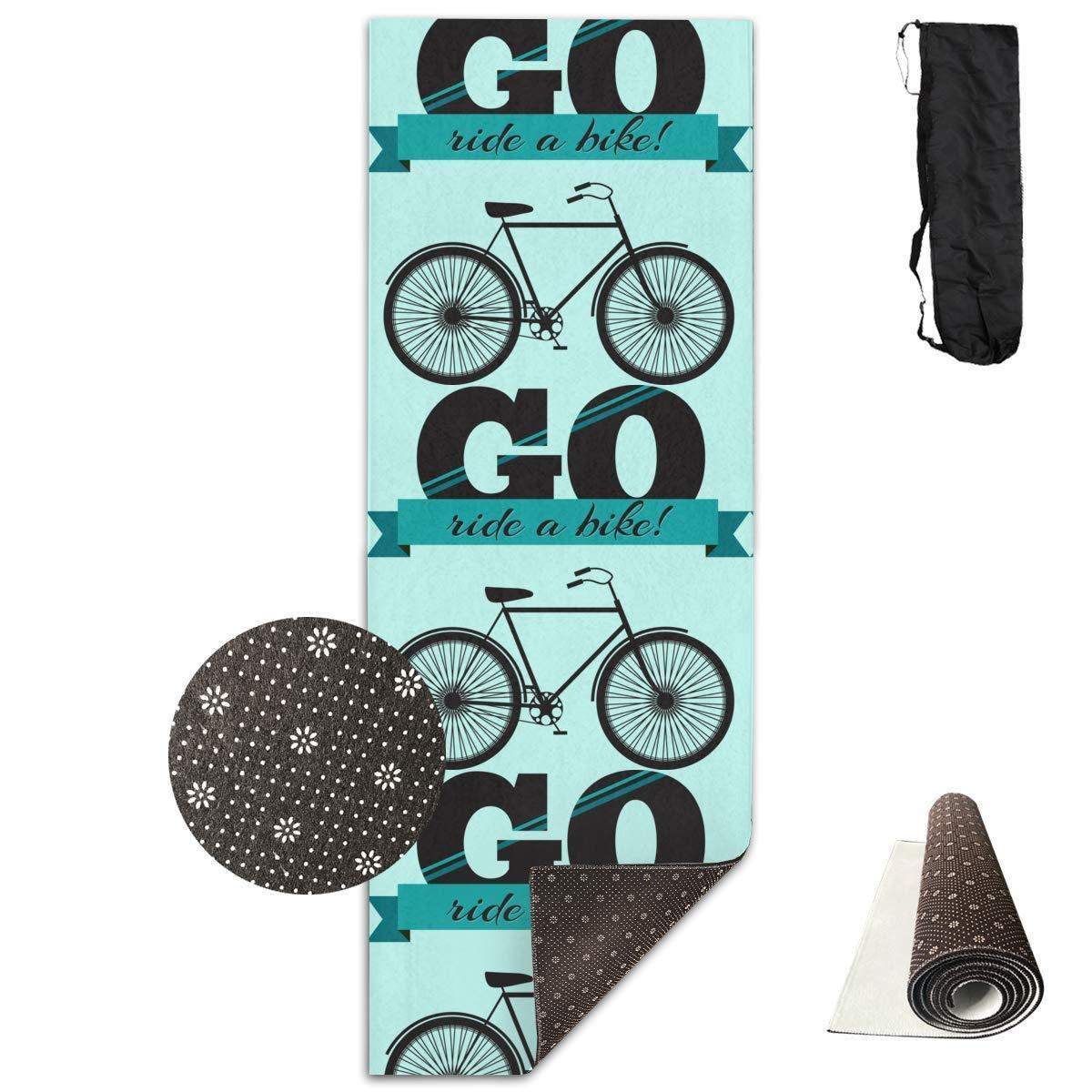 Borsa Shrot Tappetino Yoga Antiscivolo Bicicletta 61 x 180 cm Premium Fitness Esercizio Pilates Cinghia di Trasporto