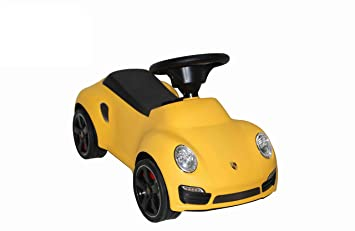 Best Ride On Cars Porsche Turbo Push Car, Yellow
