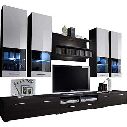 Delicieux Dorido Wall Unit TV Contemporary Furniture/Modern Entertainment Center With  LED Lights Color (Wenge