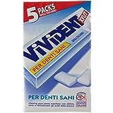 Vivident Xylit, Gomma da Masticare, Spearmint, 4 confezioni da 5 stick [20 stick]