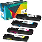 Do it Wiser 4 Toner Compatibili per Xerox WorkCentre 6605 | Xerox Phaser 6600 | WorkCentre 6605dn | WorkCentre 6605n | Phaser 6600n | Phaser 6600dn (4 Pack)