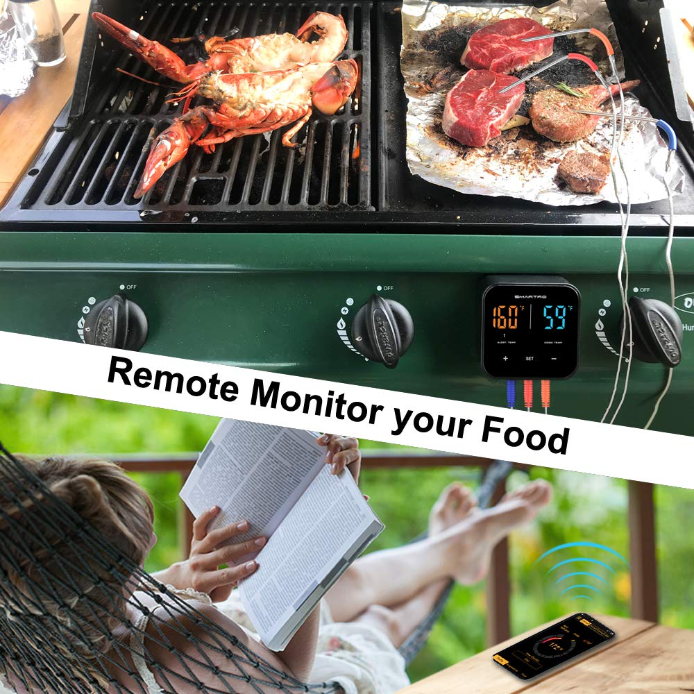 SMARTRO ST55 Wireless Digital Meat Thermometer for Oven Grill Kitchen Food Cooking Smoker BBQ with 3 Probes by SMARTRO (Image #2)