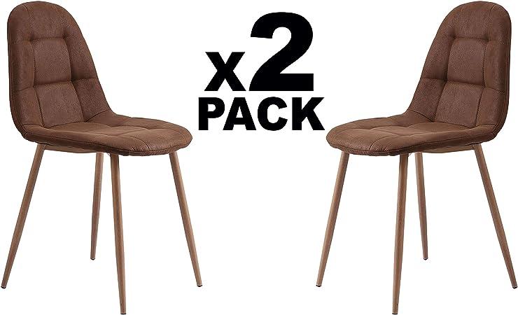 Adec - Vintage, Pack 2 sillas de Comedor, Cocina o Comedor, Silla ...