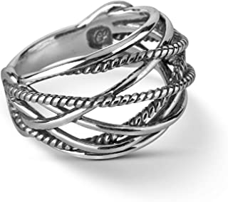 product image for Carolyn Pollack Sterling Silver Dome Ring Sizes 5 to 10