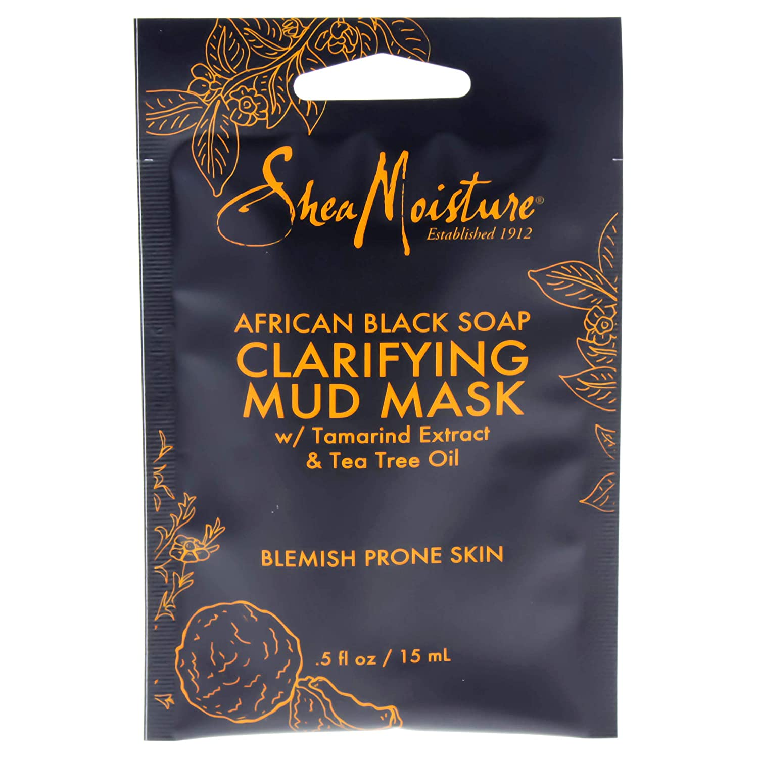 Shea Moisture African black soap clarifying mud mask by shea moisture for unisex mask, 0.5 Ounce PerfumeWorldWide Inc. U-SC-4833