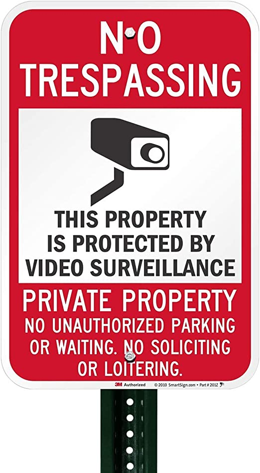 Protected by Video Surveillance Security Notice Label Set from SmartSign Lyle Signs Inc.