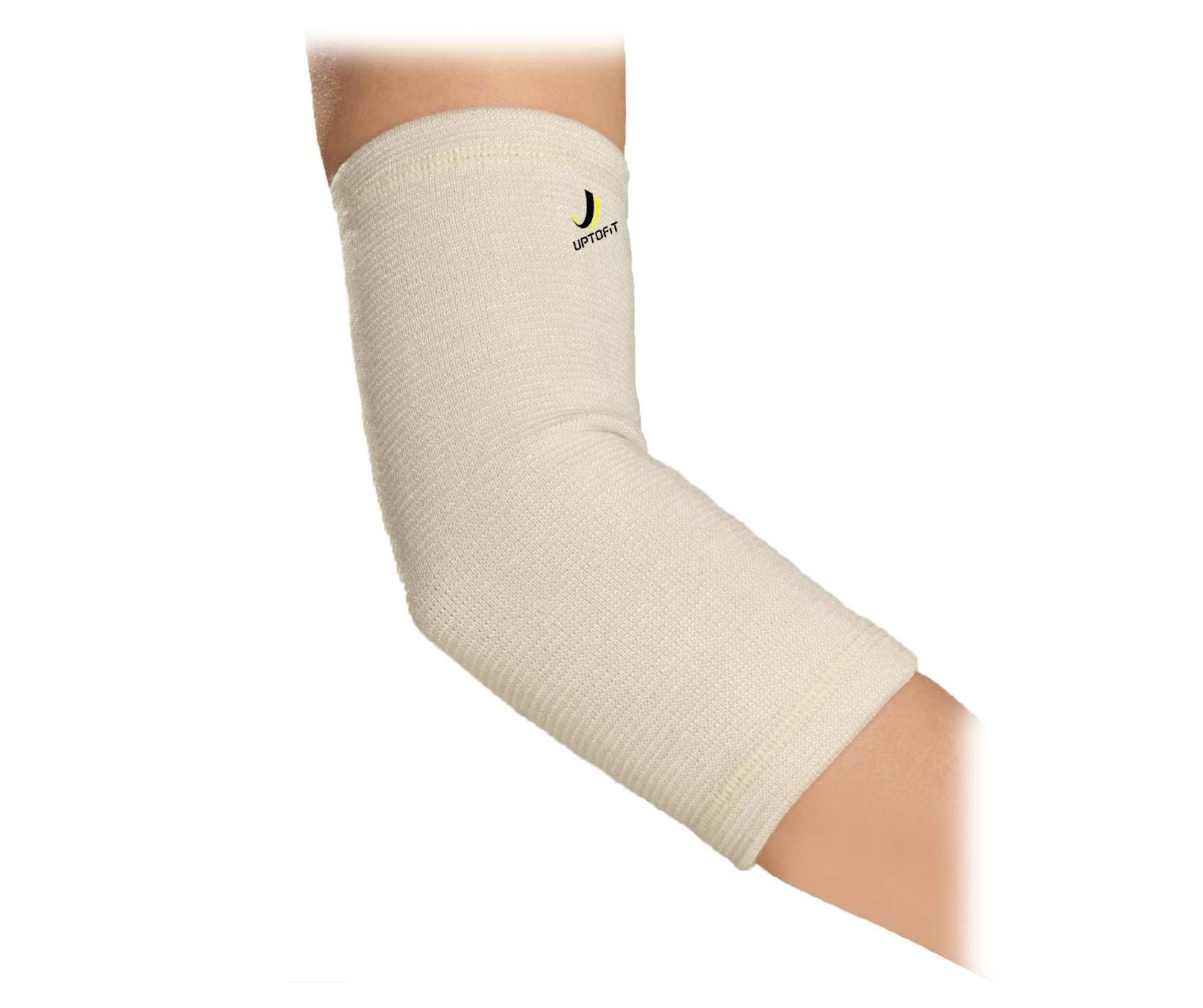 UPTOFIT Copper Elbow Sleeve for Bursitis Tennis Elbow Pain Weightlifting Basketball Golf Elbow Arthritis Lacrosse Elbow Arm and Elbow Support for Men and Women (S)