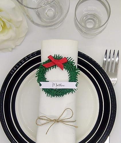 Marcasitio navidad. Nombres mesa navidad. Sitio nvitados navidad ...
