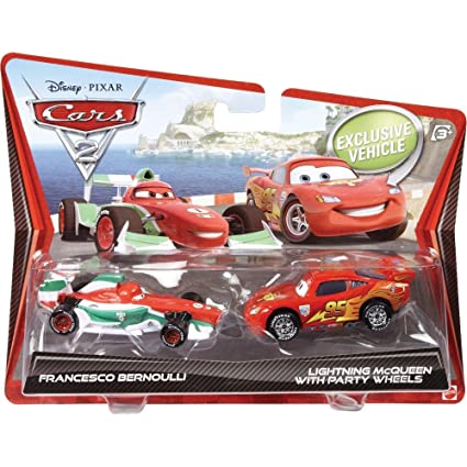 Mattel Disney Pixar Cars 2 Movie Francesco Bernoulli Lightning Mcqueen 2 Cars