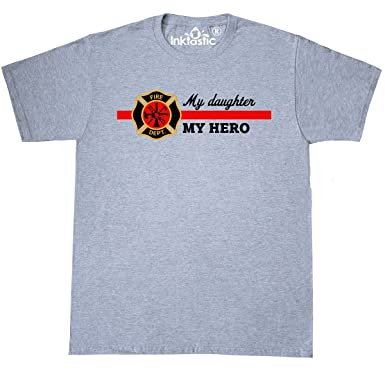 Amazoncom Inktastic My Daughter My Hero T Shirt Clothing