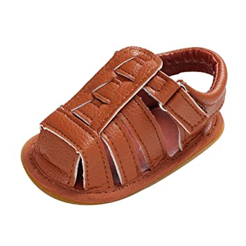 c6c21b74e Coper Summer Toddler Baby Boys Girls Cool Leather Sandals Crib Shoes (0~6  Month