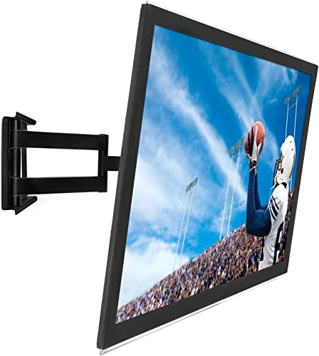 Mount-It Full Motion Corner TV Wall Mount, Low-Profile Slim Articulating Design for 50, 55, 60, 65, 70, 75 and 80 Inch TVs, 175 Lbs Capacity