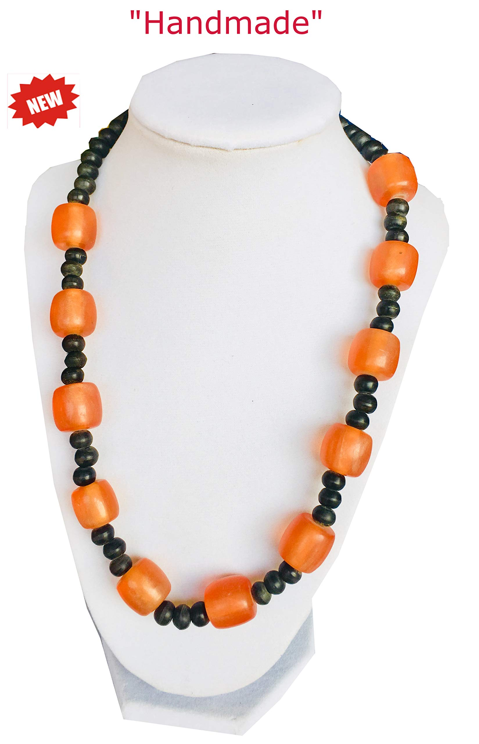 Himalayan Handicraft Multi Corals Necklace with Small Beads - Comes with Gift Box