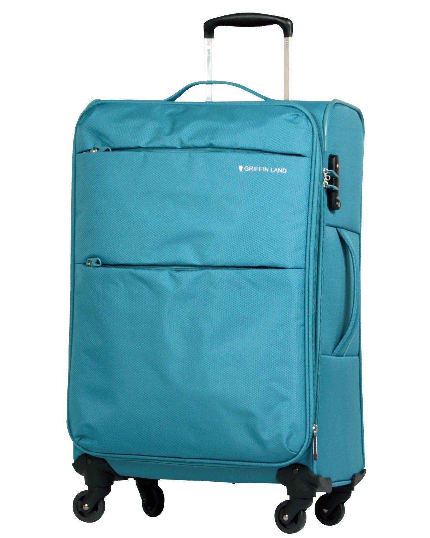 [グリフィンランド]_Griffinland TSAロック搭載 スーツケース ソフトタイプ  超軽量 AIR6327(solite) ファスナー開閉式 S型国内国際線機内持込可 5色3サイズ B01ASVUAEG M(中)型|ティール ティール M(中)型