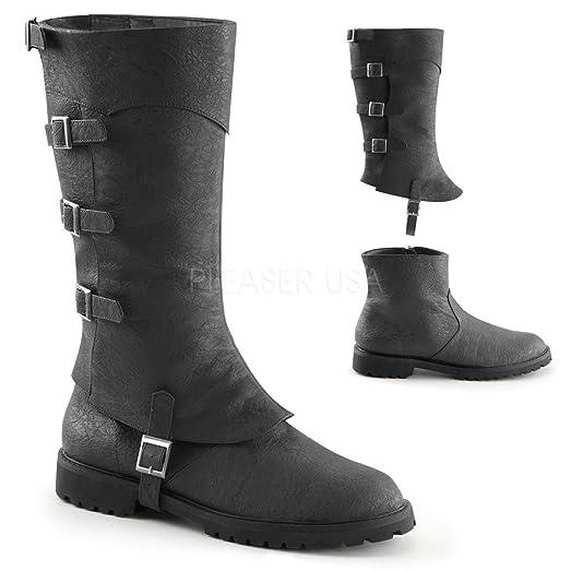 Funtasma GOTHAM-105 mens Black Distressed Polyurethane Boots Size - XL