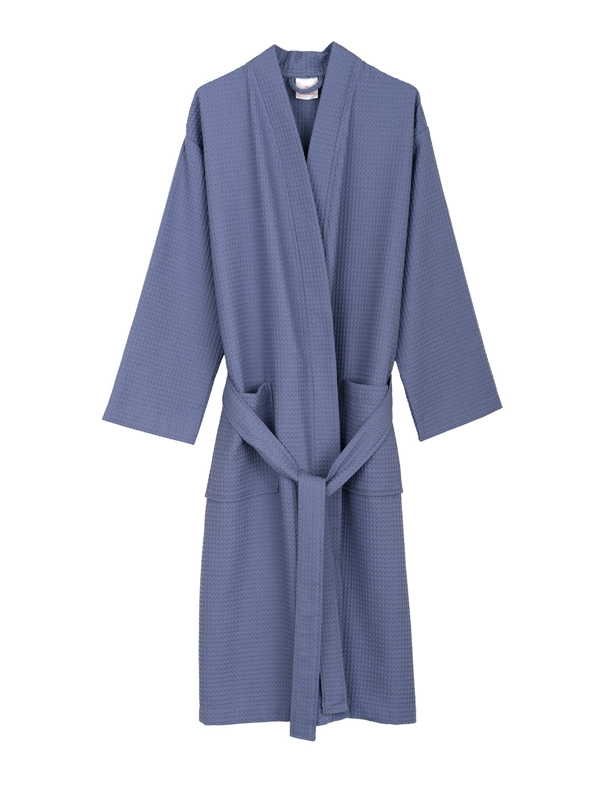 TowelSelections Men's Waffle Bathrobe Turkish Cotton Kimono Robe Medium/Large Bleached Denim by TowelSelections (Image #1)