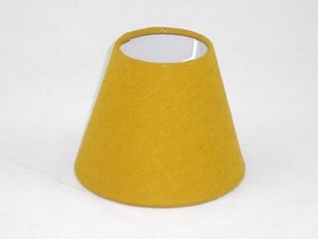 6 Pantalla para lámpara de mesa hecha a mano pequeña - Mustard ...