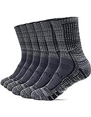 TESLA Men's 6-Pairs Atheltic Mid-Calf Sports Socks (6 Pack)