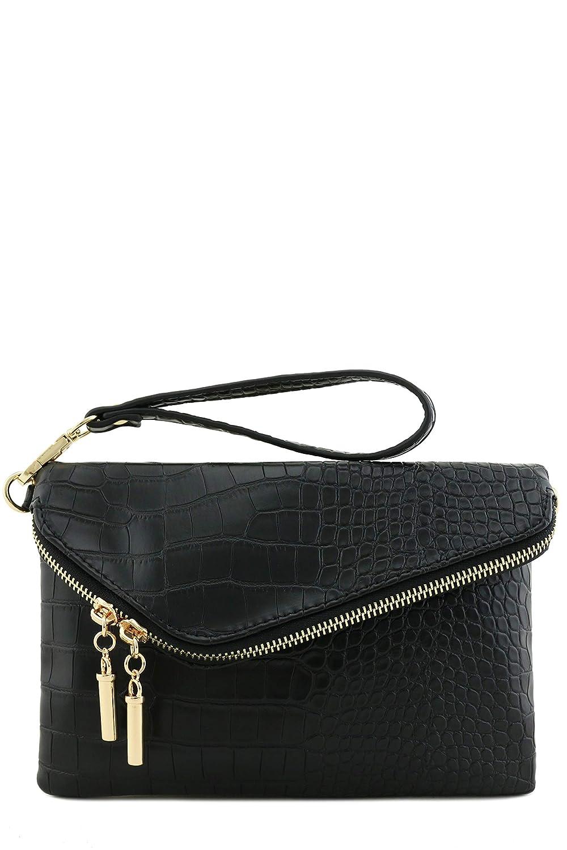 Envelope Wristlet Clutch Crossbody Bag with Chain Strap