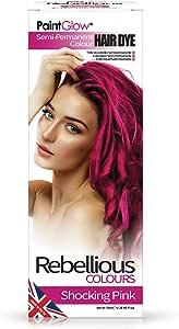 Paintglow - Rebellious Colours - Tinte de Pelo Semi-Permanente 70 ml (Shocking Pink) - 1 unidad