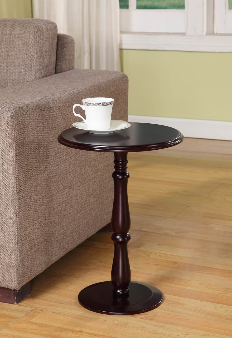 small round end table Amazon.com: Kings Brand Furniture   Dark Cherry Finish Wood Plant  small round end table