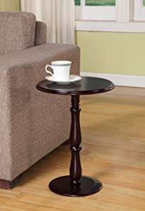 Kings Brand Dark Cherry Finish Wood Plant Stand Accent Side End Table