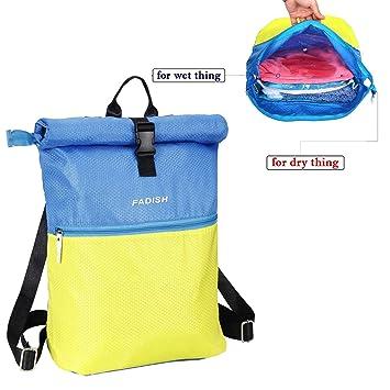 Caeser Archy Bolsa de natación 2 en 1 seco y húmedo Ropa separadores natación al Aire Libre Escuela Gimnasio Bolsas de Almacenamiento Bolsa de Deporte ...