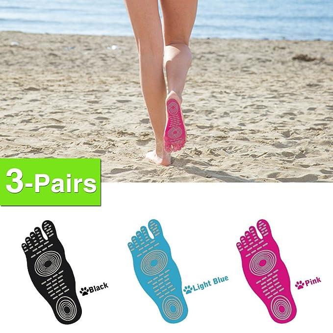 8925bcc4834bc Amazon.com  3 Pairs ELIMI Barefoot Adhesive Foot Pad