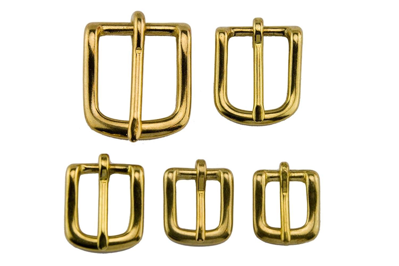 LENNIE Geschirrschnalle aus Messing, Grö ß e 10 13 16 20 25 mm, Gold, Gurtschnalle, Zaumschnalle, 5 Grö ß en Grö ß e 20mm LENNIE-Equipment