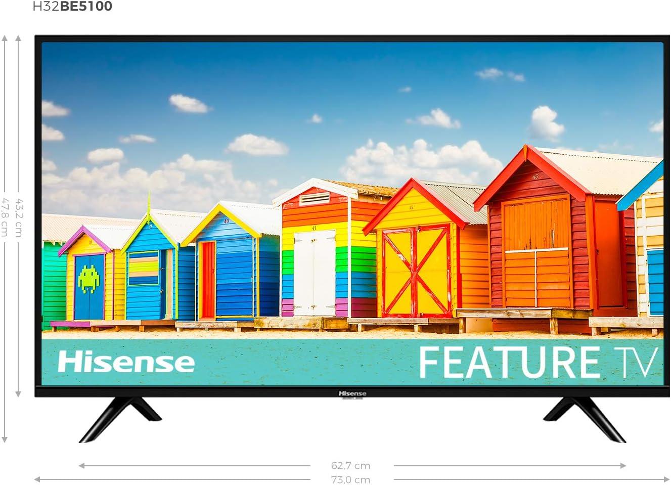 Hisense H32B5100 - TV Led HD, 2 HDMI, 1 USB, Salida Óptica, Audio DD+. [Clase de eficiencia energética A]: Hisense: Amazon.es: Electrónica