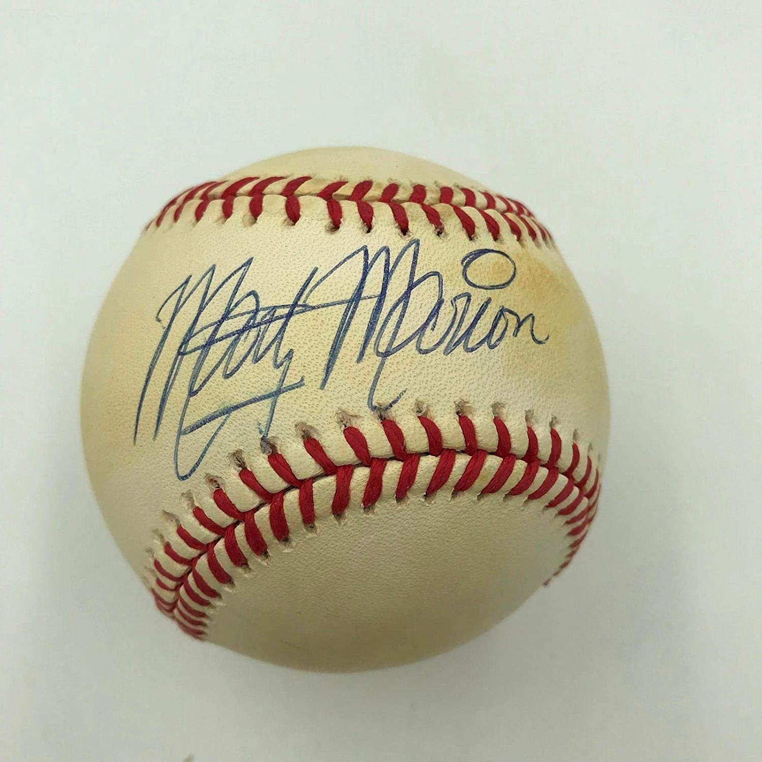 Signed Marty Marion Baseball - Official National League - Autographed Baseballs Sports Memorabilia