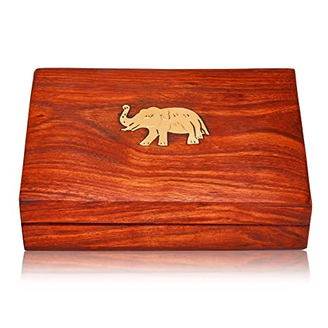 Unique Birthday Gift Ideas Handcrafted Classic Wooden Playing Card Holder Deck Box Storage Case Organizer With