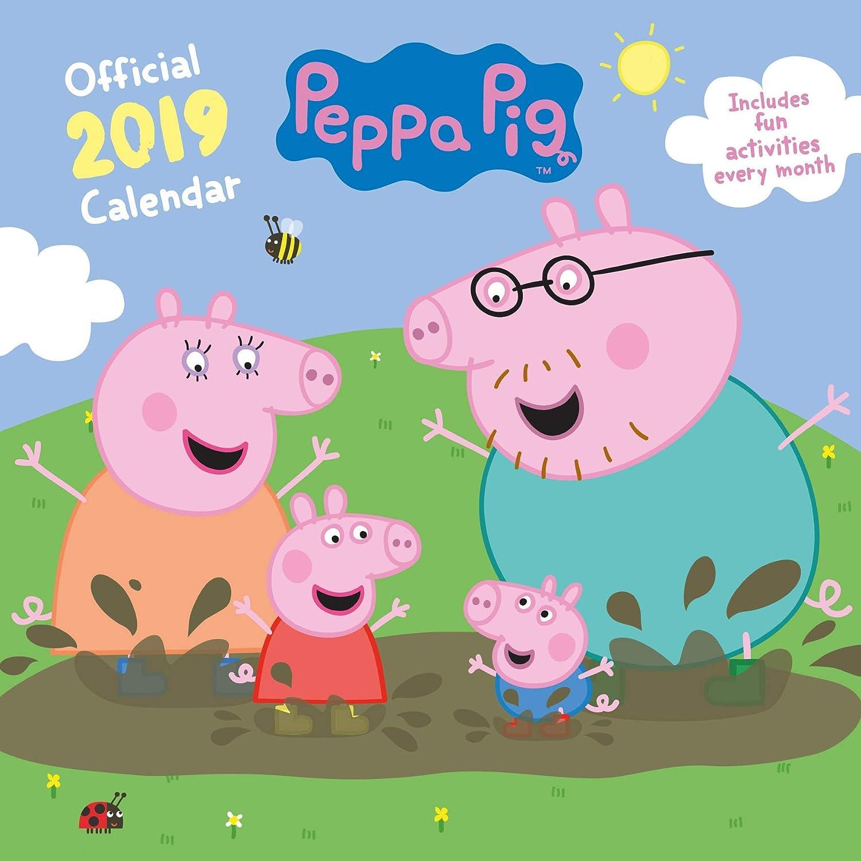 PEPPA PIG UFFICIALE CALENDARIO 2019 + PEPPA PIG LLAVERO ...