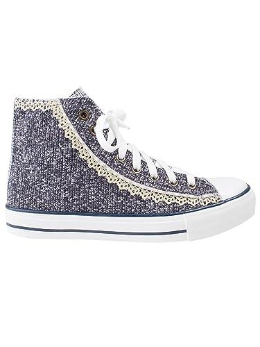 9141dab51f55 Krüger Damen Sneaker Classy Sassy, Trachten Sneaker Classy Sassy, Art Nr.  4166-8,  Amazon.de  Schuhe   Handtaschen
