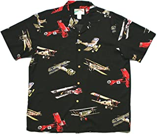product image for Paradise Found Mens Fighter Airplane WWI Shirt Black S