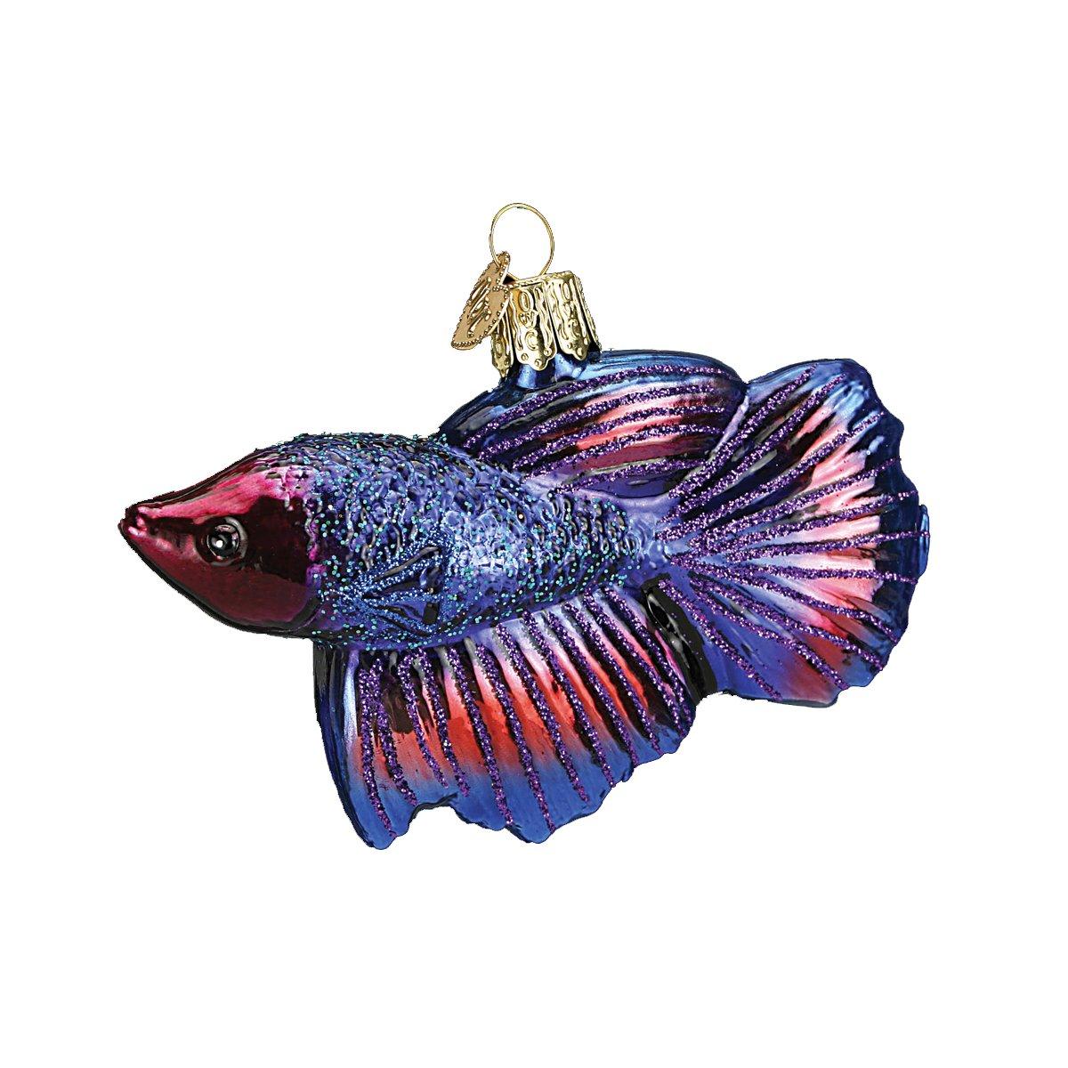 Old World Christmas Betta Fish Glass Blown Ornament