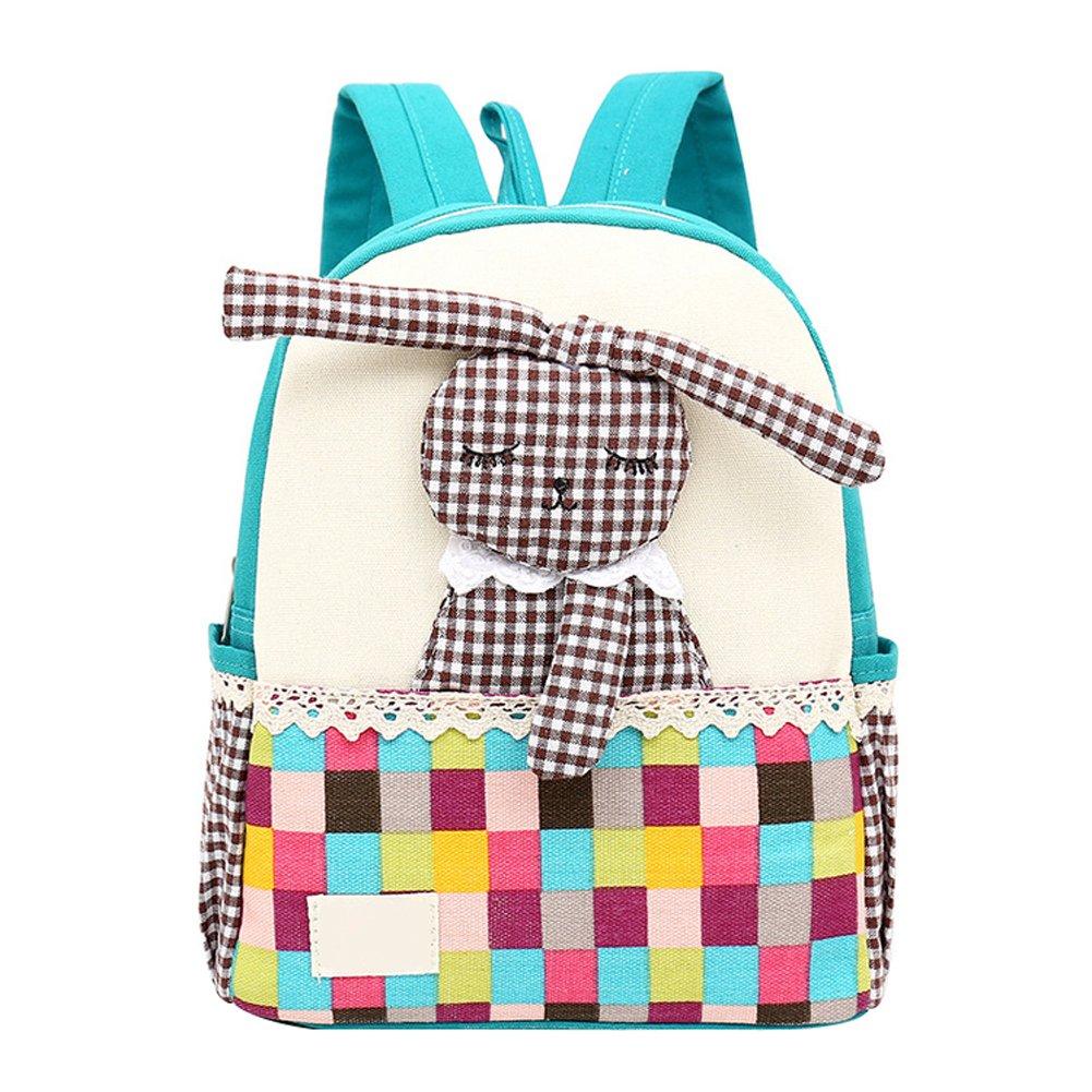 Amazon.com   Skyflying Fashion Cute Rabbit Classical Vintage Canvas  Schoolbag Backpack Toddler Handmade Kindergarten Low Grade Kids Rucksack  Satchel (Blue) ... 9366ea58af