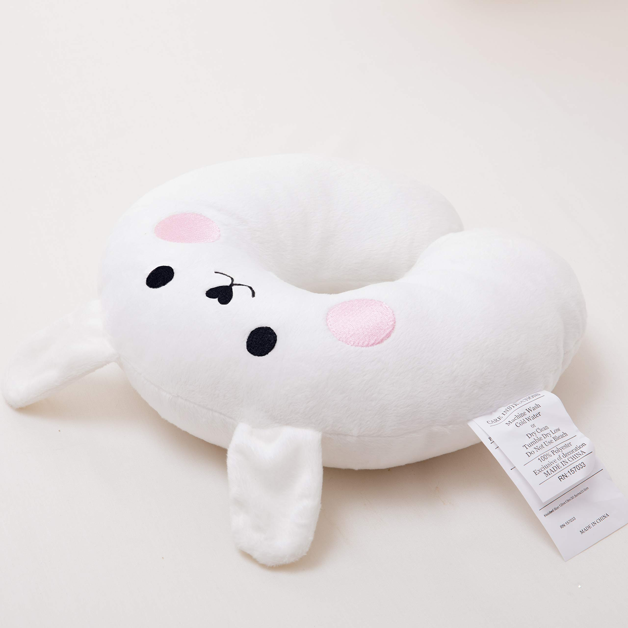 Travel Toddler Soft Pillow for Head, Neck, and Chin Support Rabbit
