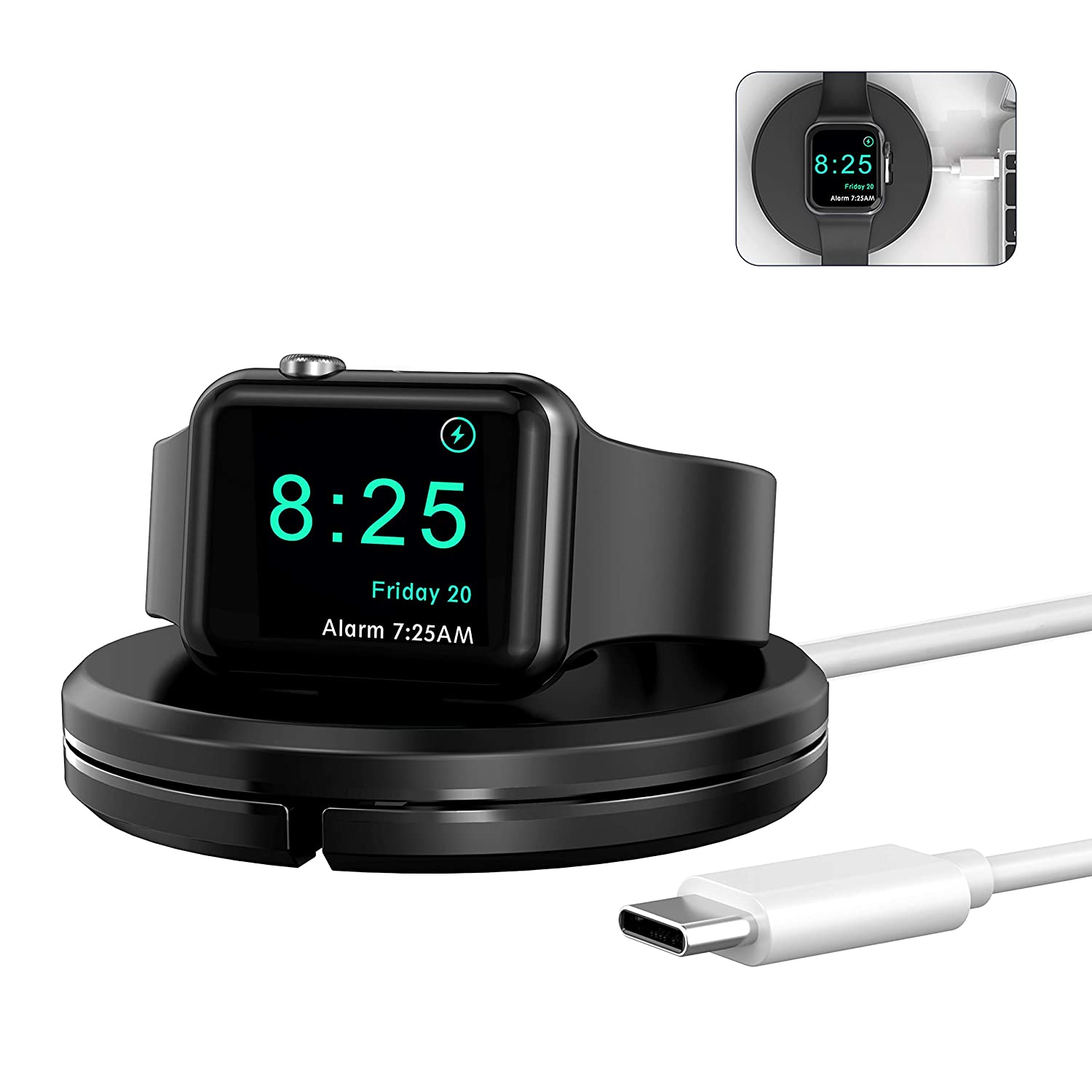 OIFEN Charging Stand [Charger Included] for Apple Watch, Portable iWatch Charger Stand with Charging Cable, Magnetic Wireless Charging Dock Compatible with Apple Watch SE Series 6/5/4/3/2/1 (Black)